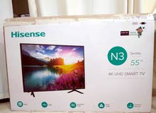 Hisense 55-Inch 4K UHD Smart LED TV 55N3000UW Black