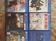العاب PS4 للبيع فقط