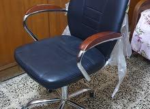 كرسي مكتبي دوار + ميز مكتبي حديد