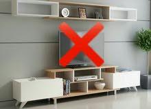 طاولات تلفاز اجدد الموديلات نص كاش نص شيك