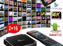 ANDROID TV BOX 7.1 X96 QUAD CORE 2GB RAM 16GB ROM يشغل معظم المحطات العالمية