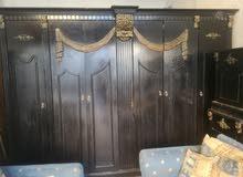 غرفة نوم بس بدون تخت خشب لاتيه طقم كنب 7 مقاعد بحالة ممتازة