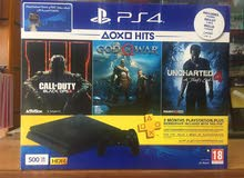 Ps4 with 3 New Games 500 GB ( New )