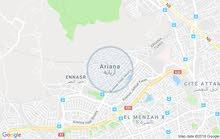 ارض للبيع مسحتها7756م اريانة سيدي ثابت شرفس2 على كياس الرءيسي فيها ماء و ضوء