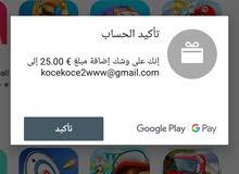 عندي.حساب فيه 50دولار فيك تشتري اي شي من العاب وبرامج بدو ابيعو لحساب يتواصل معي