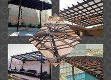 تشييد برجولات حدائق.  الرياض – جدة - الشرقية