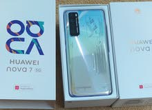 (Brand new,Huawei Nova 7 5G,256 memory, 8GB ram, colour space silver