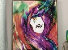 للبيع لوحه فنيه لشكل امرأه عربيه لها معاني كثيره