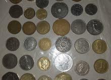 عملات ورقية ونقدية  عربية واجنبية