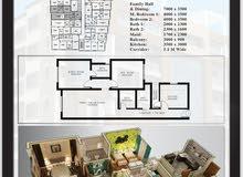 شقة 105متر للبيع براس الحمراء مشروع برج الجوري