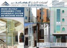 Indoor Elevators, Hydraulic system, Stylish Panoramic