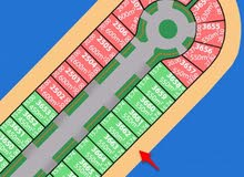 أرض للبيع في صباح الاحمد البحرية المرحلة الثالثة B رقم القسيمة : 3662