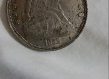 دولار أمريكي معدني قديم 1862