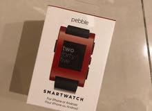 ساعة pebble watch الذكية جديدة