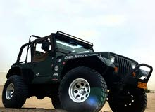 Green Jeep Wrangler 1995 for sale