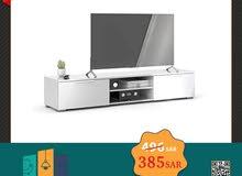 طاولة تلفاز، لون أبيض 39.9x33.1x172.7 سم