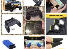 pupg contrôler W11+ noir+قفازات اصابع لعبة بابجي لون ازرق