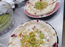 معلم مطعم حمص وفلافل