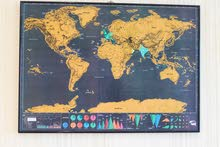 World map for sale, with frame