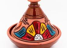 Moroccan Tajine artistically colored embossed design 26cm