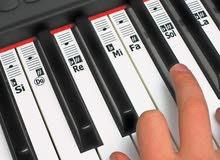 لصقات النوته الموسيقيه (دو ري مي فا) لتعليم البيانو / الاورج / الاورغ