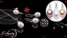 طقم ضي القمر هدية مميزة من اللؤلؤ الطبيعي والفضة بسعر رااااائع