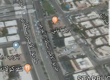 ارض للاستثمار بشارع الامير سلطان 3 شوارع