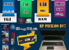HP PAVILION DV7 AMD A8 3630 جيل ثالث رمات 6 جيجا هارد 750/ قوة تحمل عاليه للجرافيك