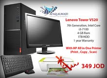 Lenovo Desktop I3 With Hp printer بسعر ممتاز