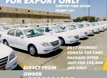 HOT OFFER FOR EXPORT ONLY 2017 HYUNDAI SONATAS TOTAL 105 CARS