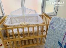 سرير اطفال + مهد