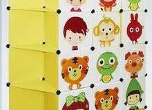دولاب ورفوف ملابس بلاستيك للأطفال