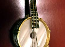 Gold and mother of pearl banjo musical instrument pin USA  Over 100 years old