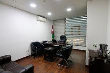 مكتب مؤثث للايجار شامل كافة الخدمات ( عقود مرنة)