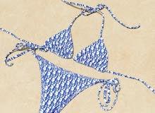reversible Dior bikini royal blue