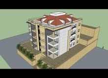 شقة 140م مع حديقة في بكفيا قيد الانشاء