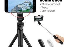 سيلفي مع قاعدة ترايبود Selfie Stick Tripod for Smartphone