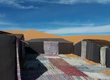 مخيم في وسط الرمال الذهبية في مرزوكة