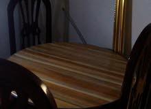 طقم 4 كراسي + طاوله مستديره