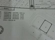 أرض سكنية للبيع بجانبها ارض حكومية