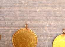 4 عملات فرنسية 10 فرنك فرنسية ذهبية
