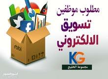 مطلوب مسوق الألكتروني لدى شركة مجموعة الخليج