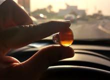 خاتم عقيق متدرج غروب الشمس بصياغة فضة عمانية