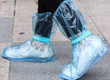 احذية بلاستيك للامطار حماية لملابسك الغاليه بسعر 500 ريال