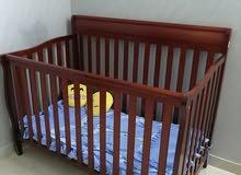 سرير اطفال خشبي خامه ممتازه