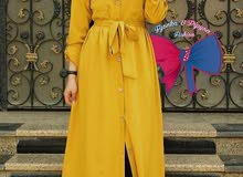 فستان كتان فلورى للبيع