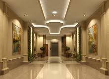 شقه 4 غرف و3 حمامات وصاله ومطبخ اماميه في الدور الثاني خزان سفلي وعلوي خاص
