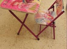 عربايه مزدوج اطفال.مع مكتب وكرس