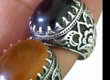 خاتم عقيق شرف الشمس وخاتم حديد صيني اصلي