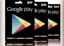 بطاقات غوغل بلاي